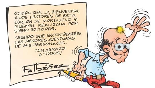 Felicitación de Ibáñez a Signo Editores