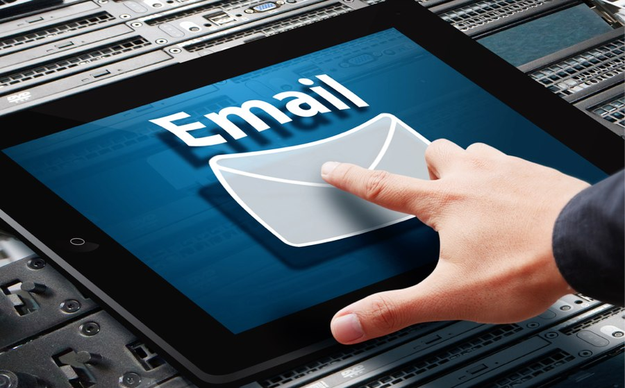 email marketing tablet